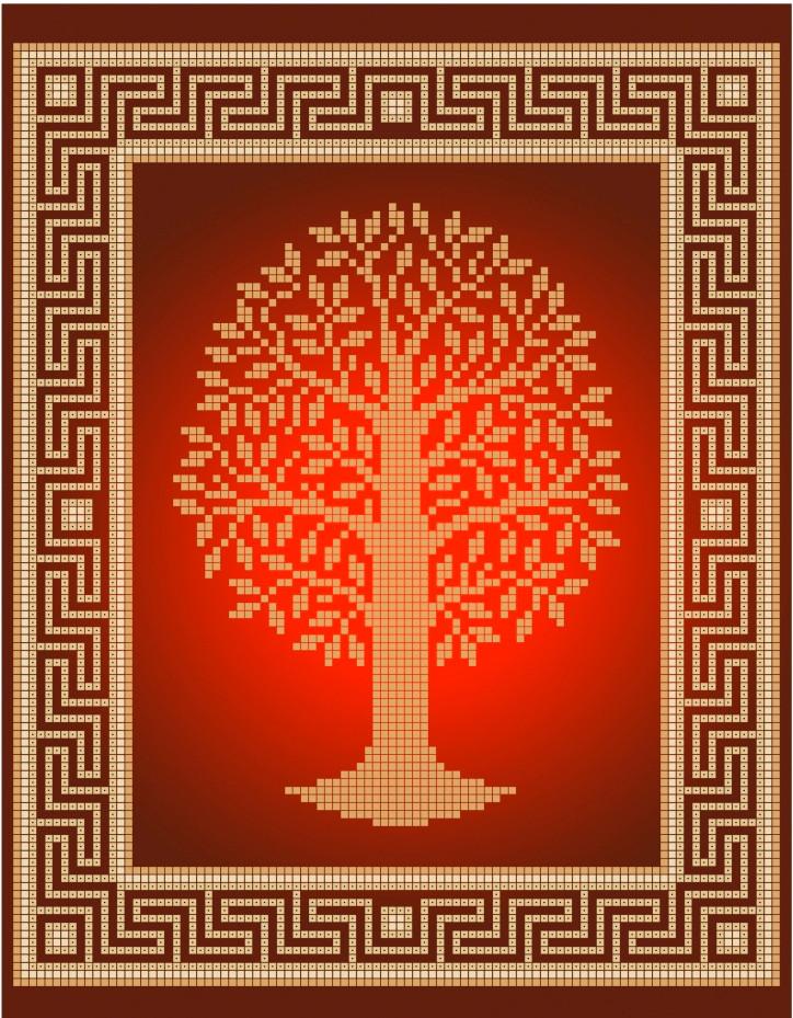 Схема для вишивки та вишивання бісером Бисерок «Дерево» (A4) 20x25 (ЧВ-3412(10))