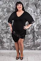 Вечернее платье-туника больших размеров