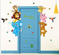 Наклейка на стену в детскую комнату Креативный мир животных