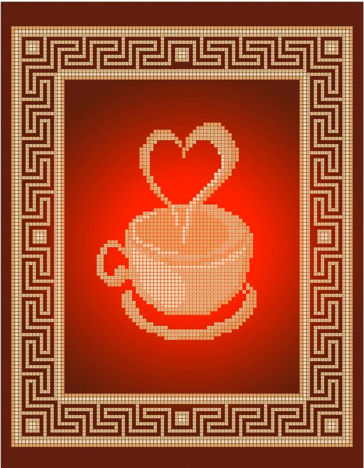 Схема для вишивки та вишивання бісером Бисерок «Кава для коханого» (A4) 20x25 (ЧВ-3409(10))