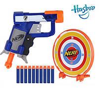 Игрушечный пистолет N-Strike Nerf Micro Blaster от Hasbro (мишень + 10 патронов)