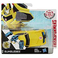 """Бамблби с трансформацией 1 шаг """"Роботы под прикрытием"""" - Bumblebee, RID, 1-Step, Hasbro, фото 1"""