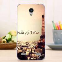 Чехол силиконовый бампер для ZTE Blade A520 с картинкой Париж