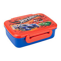 Kite Ланчбокс (бутербродница) детский для еды с разделителем Hot Wheels