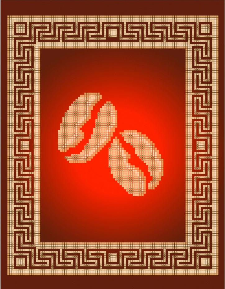 Схема для вишивки та вишивання бісером Бисерок «Золоті зерна» (A4) 20x25 (ЧВ-3406(10))