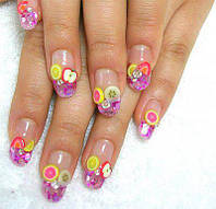 Фимо для декора ногтей, фимо-налейки, 8 видов на выбор (набор 1000 штук)