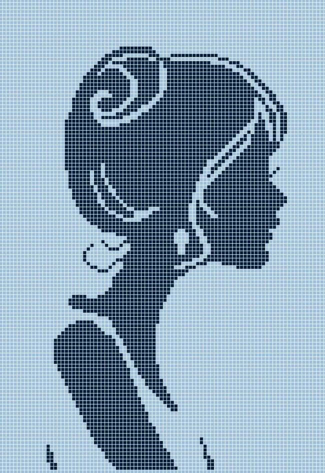 Схема для вишивки та вишивання бісером Бисерок «Сілует» (A4) 20x25 (ЧВ-3303(10))
