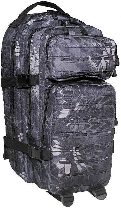 Штурмовой тактический рюкзак 30л MFH Assault I Laser камуфляж чёрная змея  30335N