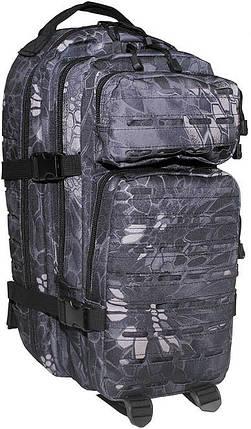 Штурмовой тактический рюкзак 30л MFH Assault I Laser камуфляж чёрная змея  30335N, фото 2