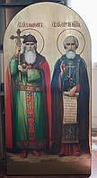 Икона храмовая Святой князь Владимир и Святой Сергей Радонежский