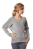 Женский трикотажный свитер черно-белого цвета. Модель 407 SL