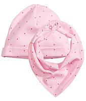 Шапка и шарф для девочки  6-12, 12-24 месяца