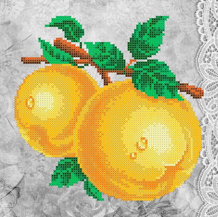 Схема для вишивки та вишивання бісером Бисерок «Жовті яблука» (A4) 20x25 (ЧВ-3321(10))