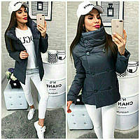 Новинка!!! Демисезонная женская куртка на пуговицах т.синяя 42 44 46 48