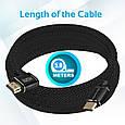 Кабель Promate prolink4k1-500 HDMI - HDMI v.2.0 5 м , фото 6