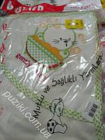 Полотенце с капюшоном после купания украшен вышивкой в виде котенка, фото 1