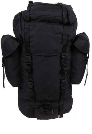 Армейский рюкзак Бундесвер 65л MFH чёрный 30253A