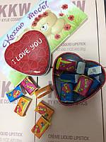 Жвачки Love is в коробочке сердечко, 10 шт мини (коробочка металл)