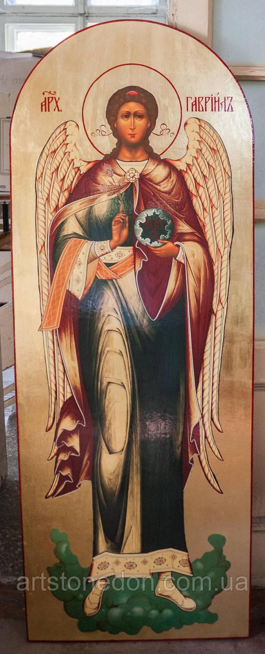 Икона храмовая ростовая Архангела Гавриила
