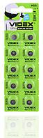 Батарейка часовая Videx AG5 / LR754/ G5/ LR48/ 193/ GP93A/ 393/ SR754W