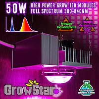 Фитолампа GrowStar 50W. Grow LED Lamp 50W Full Spectrum 380-840 nm.