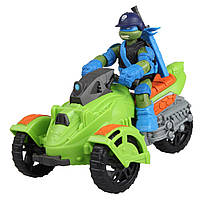 Боевой транспорт Леонардо и мотоцикл - Ninja AT-3E with Leonardo, TMNT 2012, Playmates