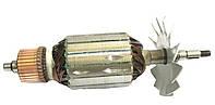 Якорь тст-н болгарки DWT WS-230 SL, Интерскол 230 УШМ-230/2300 Вт (59*212 мм, хвостовик - шпонка+резьба 10 мм)