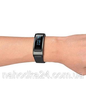 Фитнес-трекер умный браслет ID 107 Black / Умные часы, цвет черный, фото 2