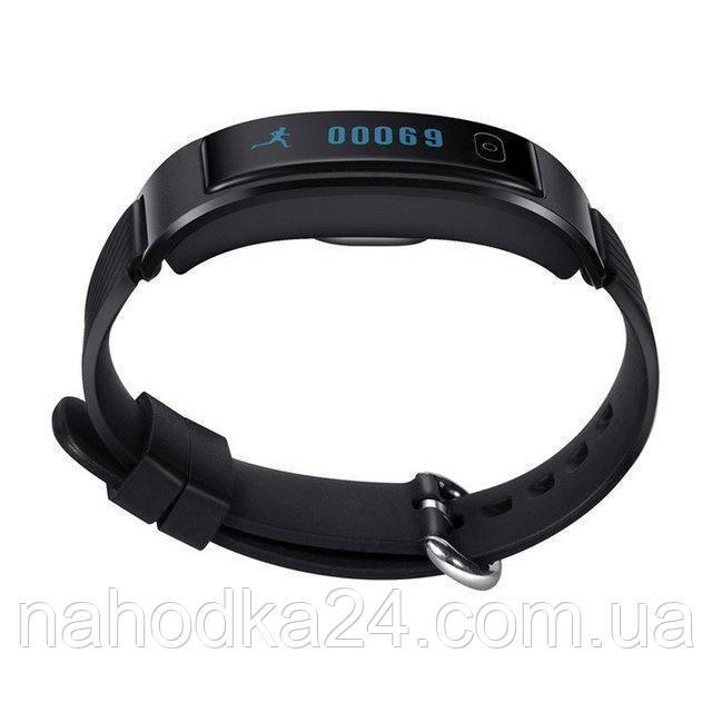 Фитнес-трекер умный браслет ID 107 Black / Умные часы, цвет черный