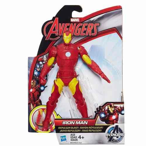 Подвижная фигурка Железного Человека 15СМ - Iron Man, Avengers, Initiative, Repulsor Blast, Hasbro