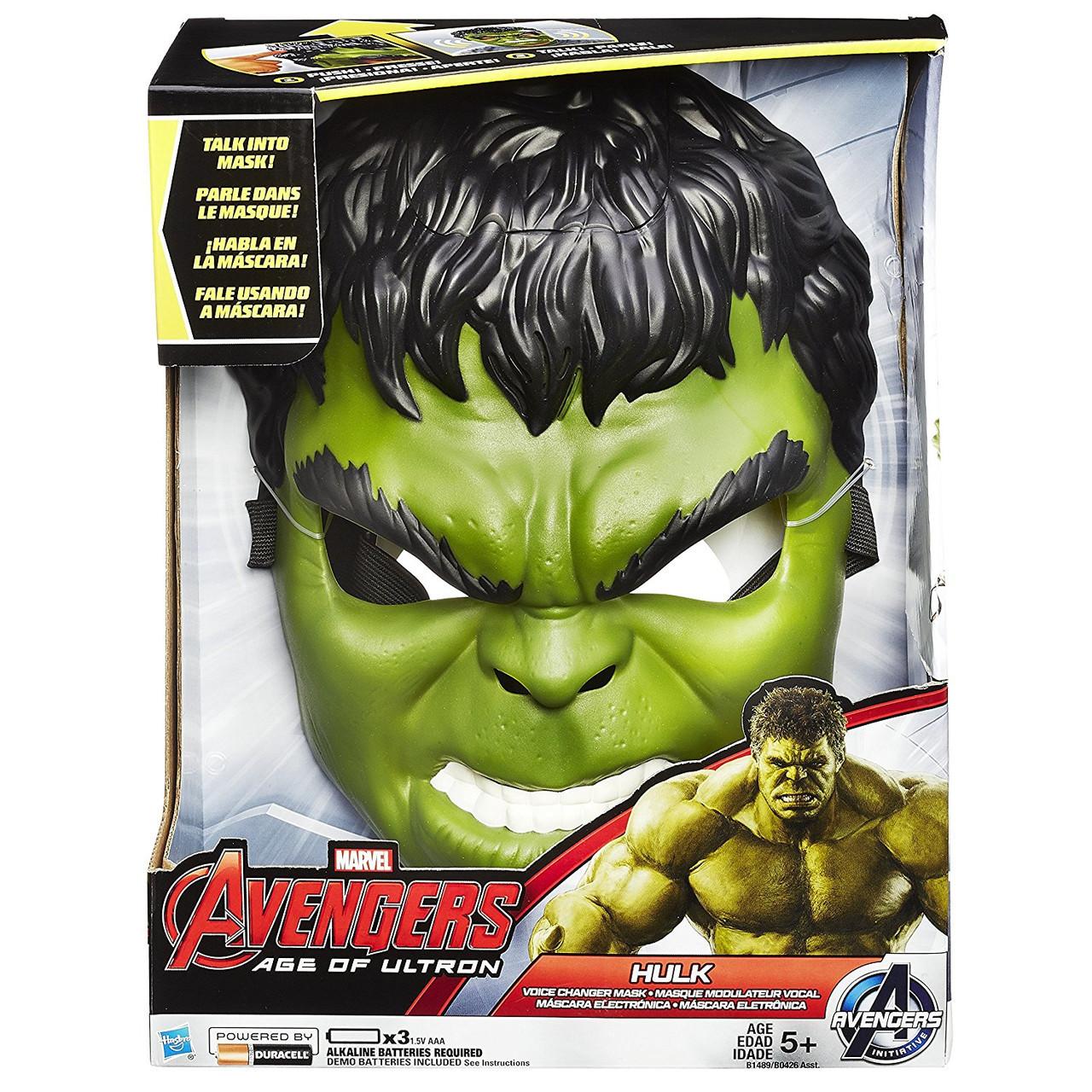 Маска Халка меняющая голос- Voice Changer Mask Hulk, Age of Ultron, Hasbro Avengers