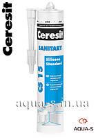 Санитарный силиконовый герметик  Ceresit Sanitary Silicone Standard CS-15 (белый)
