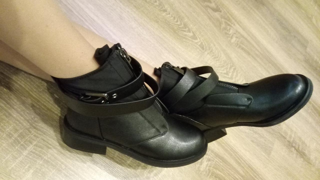Женские демисезонные ботинки черные