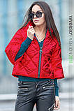 Куртка из перламутровой плащевки  цвет синий L, фото 7