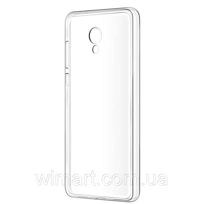 Силиконовый чехол для Meizu M5s прозрачный ультратонкий.