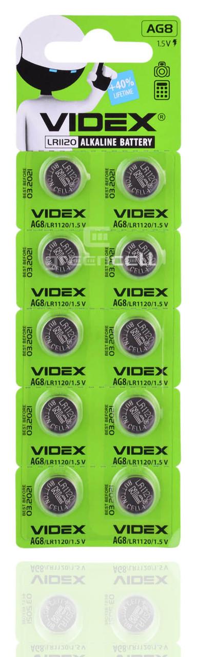 Батарейка часовая Videx AG8 / LR1120/ G8/ LR55/ 191/ GP91A/ 391/ SR1120W