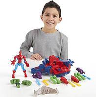 Фигурка Человека Паука c самолетом - Spider Man skycrawler, Super Hero Mashers, Marvel, Hasbro, фото 1
