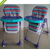 Детский стульчик для кормления BAMBI M 3233-12 фиолетовый