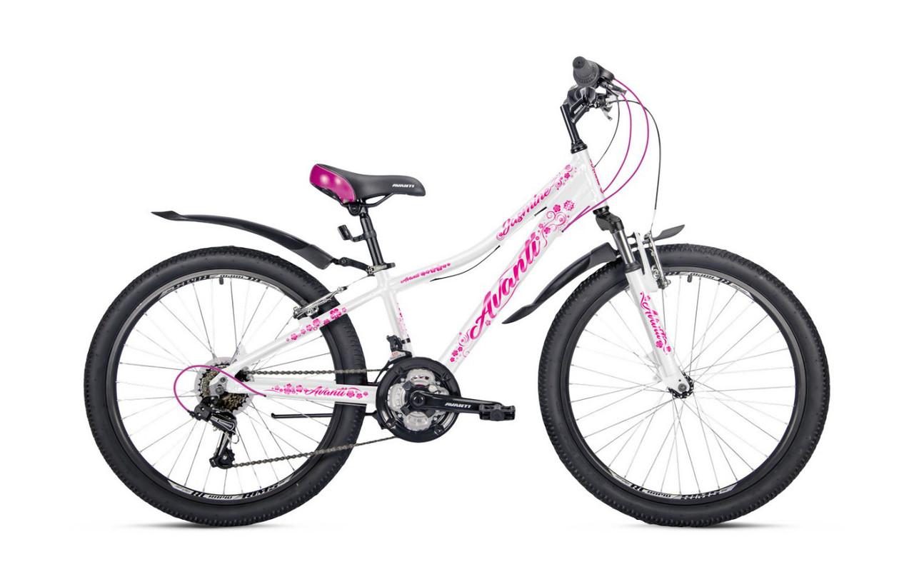 """Подростковый велосипед AVANTI JASMINE 24"""" 13""""  Белый/Розовый"""