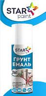 Аэрозольная грунт-краска Star Paint белый полуматовый 0,5л(0,4л)