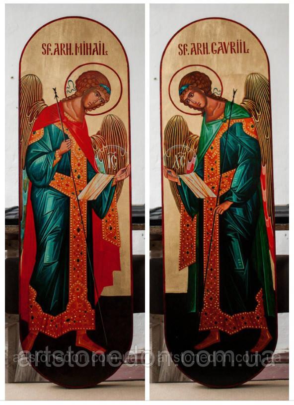Икона ростовая храмовая Архангелы Гавриил и Михаил