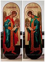 Икона ростовая храмовая Архангелы Гавриил и Михаил, фото 1