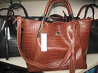 Стильная  сумка Valetta  из  экокожи под крокодил
