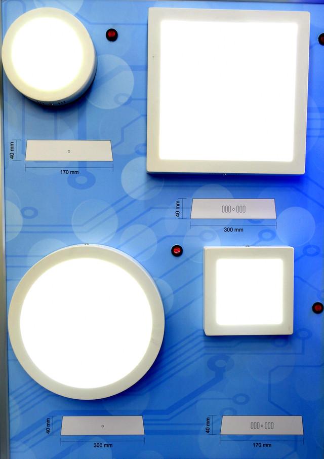 Светодиодный светильник накладной (24 Вт, квадрат) Bellson фото 1