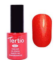 Гель-лак Tertio 10 мл №088 (красный с розовым микроблеском)