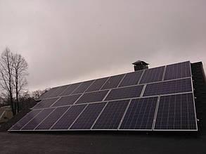 домашняя сетевая солнечная электростанция установлена