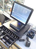АКЦИЯ ! Комплект POS терминал, сенсорный монитор, чековый принтер 58мм, сканер ручной, денежный ящик