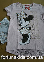 Трикотажные футболки для девочек Disney 140-158 р.р.