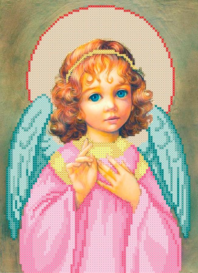 Схема для вишивки та вишивання бісером Бисерок «Ангел» (A4) 20x25 (ЧВ-3119(10))