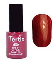 Гель-лак Tertio 10 мл №091 (темно-красный с микроблеском)
